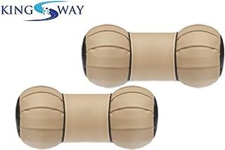 Kingsway Dumbell Shape car Neck Rest Pillow for Maruti Suzuki Swift dzire Model (Beige, Set of 2, Leatherette)