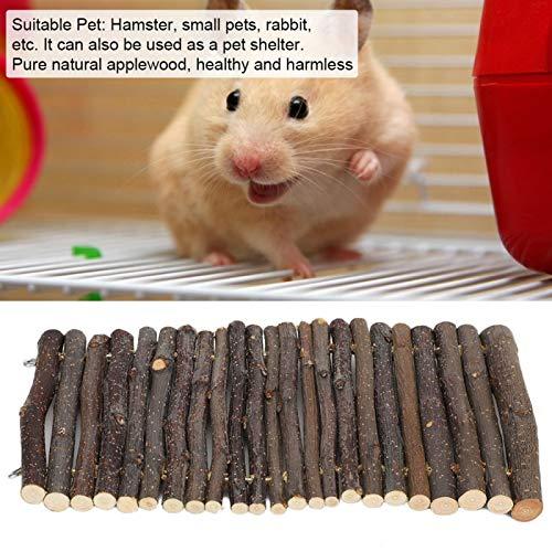 Chiwe Escalera para hámster, Puente de Arco para Mascotas Puente de Arco de Madera para Conejos, Animales pequeños, Mascotas para Masticar y trepar(S, Blue)