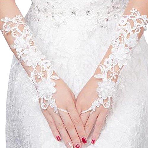 Elegant Lady Formal Banquet Party mariée percé dentelle gants de mariée gants de mariée, NO.39
