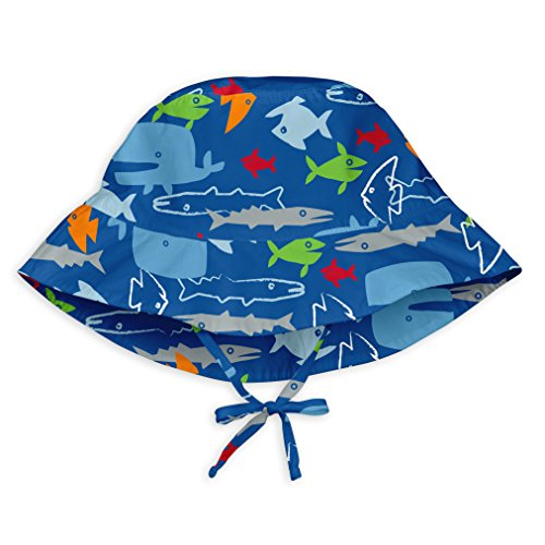 i play. by green sprouts Baby & Toddler Bucket Sun Protection Hat | All-day UPF 50+ sun protection for head, neck, & eyes
