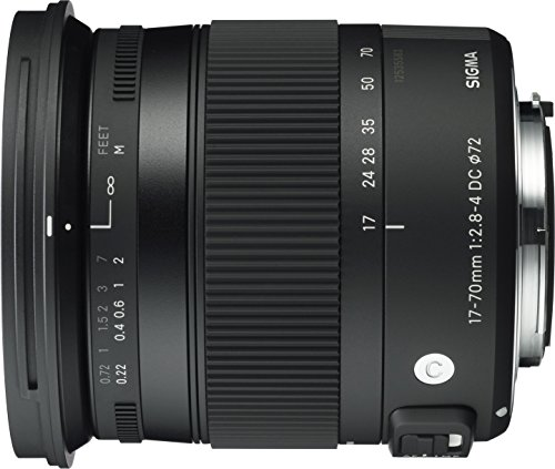Sigma 17-70mm f/2.8-4 DC Macro OS (Optical Stabilizer) HSM Lens for Canon EOS Cameras