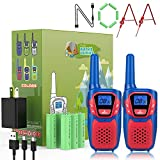 Topsung Walkie Talkies for Adults Kids Rechargeable Long Range 2 Pack, Walkie Talkie Toy Gifts for Boys Girls Year Old, FRS GMRS 2 Way Radio Walkie Talkies with AA Batteries USB Charger 22 Channels