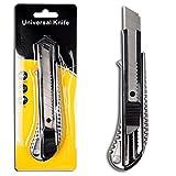 Alu Druckguss Cuttermesser mit 18mm Abbrechklinge Teppichmesser Mehrzweck Messer Allzweckmesser
