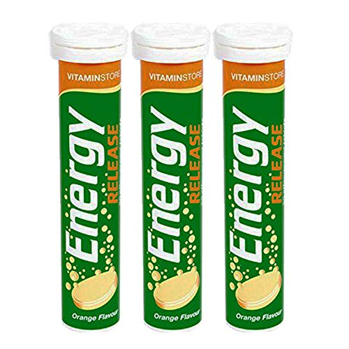 3 x 20 Energy Orange Tablets Multivitamins Minerals Effervescent Vegan