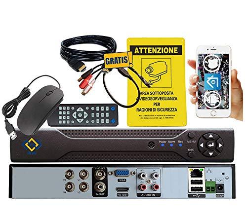 MSW-HY9204X - DVR NVR 4 Canali CH 3.0 MP / 1080P 5 IN 1 PER SISTEMI DI VIDEOSORVEGLIANZA 12 CANALI IN MODALITA' NVR