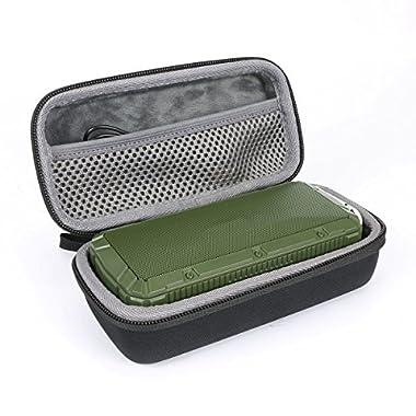 Hard Travel Case for APIE Portable Wireless Outdoor Bluetooth Speaker IPX6 Waterproof Dual 10W Driversf by co2CREA (Black)