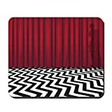 CafePress Black Lodge Twin Peaks Non-Slip Rubber Mousepad, Gaming Mouse Pad
