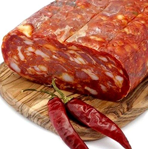 Spianata Schiacciata Piccante Kalabrischen Scharf Salami Salame aus Kalabrien Italienische Aufschnitt Kalabrische Wurst 400GR VON Sfizi di Calabria