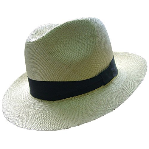 Chapéu Panamá Unisex Gamboa, Modelo Borsalino Genuíno 100% Palha, Ideal para Jardinagem