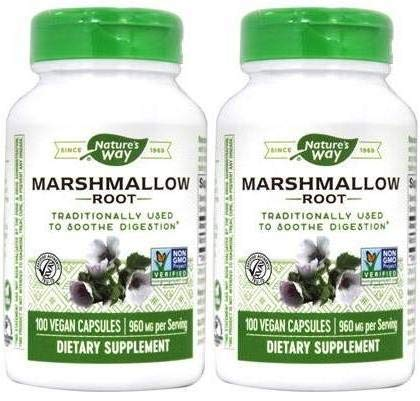 Nature's Way Marshmallow Root 960 Mg (Pack of 2) Helps to Support Respiratory Health, 100 Count Each