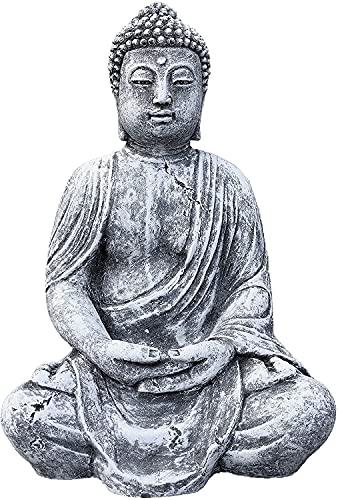Steinfigur großer Buddha Shiva, Frostfest bis -30°C, massiver Steinguss