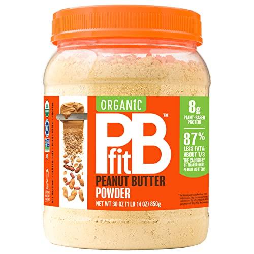 PBfit All-Natural Organic Peanut Butter Powder, Powdered...