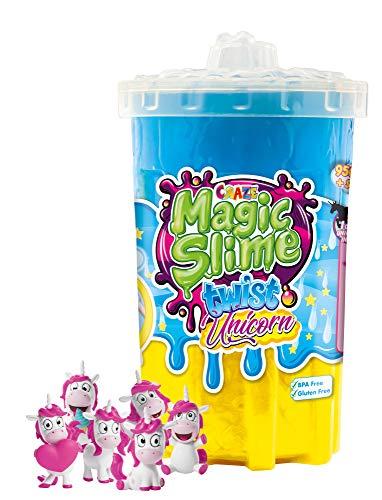 CRAZE Magic Slime Twist magischer Spielzeug Schleim Kinderschleim in Dose 950 ml inkl. Unicorn Spielfigur Mehrfarbig bunt 19900, Regenbogen