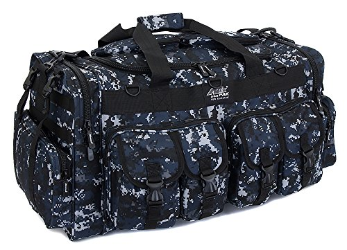"NPUSA Mens Large 30"" Inch ACU Navy Digital Camo Duffel Duffle Military Molle Tactical Cargo Gear Shoulder Bag"