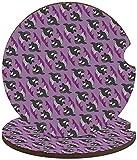 2PCS Posavasos de coche para bebidas Absorbe la piedra de cerámica absorbente Pastor australiano Playa Mini Bus Portavasos de coche redondo con muesca para los dedos-Asexuwhale