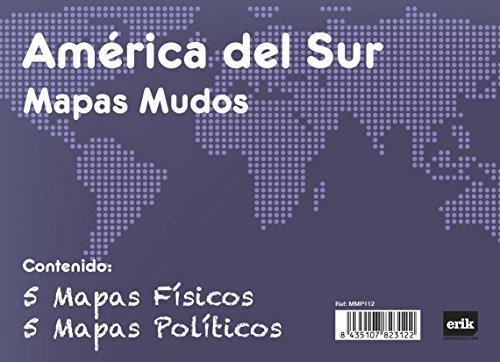 Grupo Erik Editores Pack 10 Mapas Mudos America Del Sur Politica Fisica