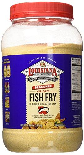 Louisiana Fish Fry Gallon Seasoned Crispy Fish Fry Seafood Breading Mix - 5.75 lbs.