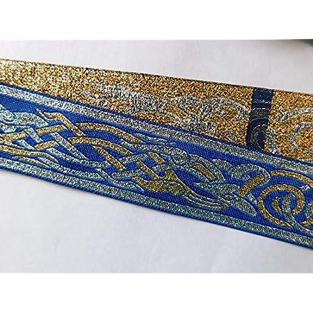 Jacquard ribbon Trim~dog bone Pattern Woven Jacquard Ribbon Dog Collar Trim BLUE~1