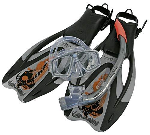 Aqua Lung Sport Proflex Pro ADJ Maske/Schnorchel und Fin Set S Silber/Orange