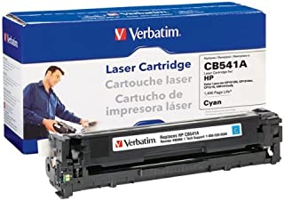 Verbatim Remanufactured Toner Cartridge Replacement for HP CB541A (Cyan)