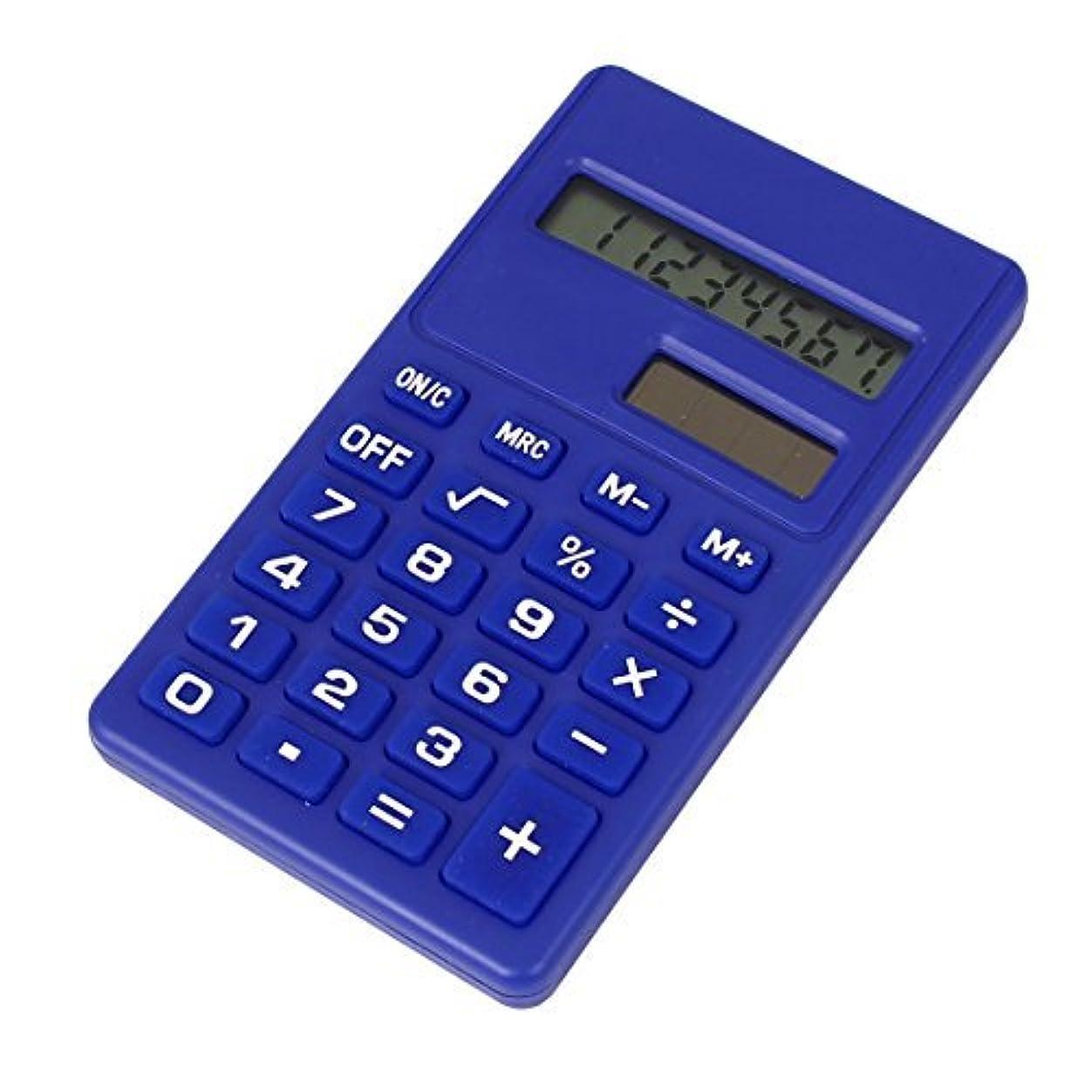 テクトニックトランスペアレントユーモアEbuyChX オフィス用液晶ディスプレイ 小型科学電卓 ブルー