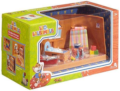 Simba 109222764 - Leo Lausemaus Kinderzimmer mit Hubert + Herbert