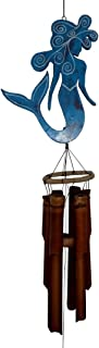 Cohasset Gifts 210B Cohasset Chime Blue Mermaid Bamboo Wind Chicme, Distressed Pale