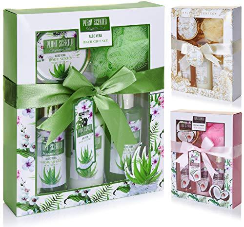 BRUBAKER Cosmetics Bade- und Dusch Set Aloe Vera - 5-teiliges Geschenkset
