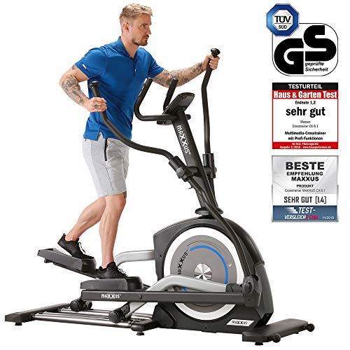 Maxxus CX 6.1 Elliptical Cross Trainer | Gym Quality Elliptical Trainer for Home Use | Large Stride Length of 58cm | Bluetooth Connectivity for App Control
