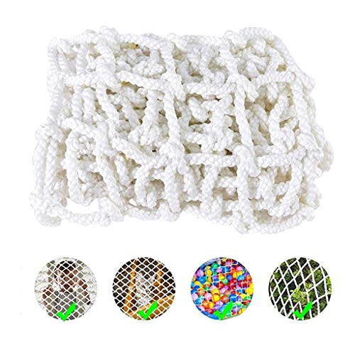 White Multi-purpose Pet Safe Guard Net,Multi-size Cat Balcony Protection Net,Extra-Large Tarpaulin Outdoor, Camping, Roof, Photography Safety Net (Color : 10cm Mesh, Size : 1 * 10M)