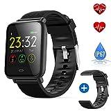DeYoun wasserdichte Smart Watch Fitness Armband-Uhr für Männer und Frauen - Fitness Tracker mit...