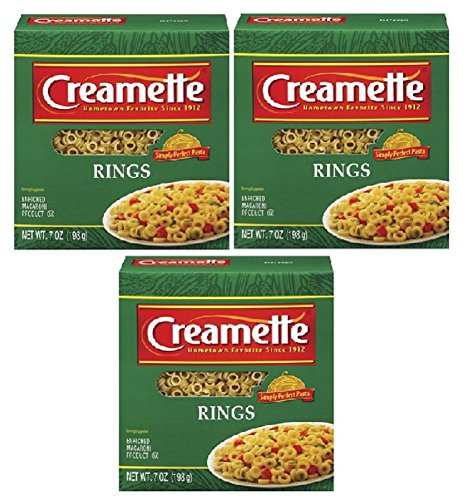 Creamette Pasta Rings Small 7 Ounce Box (Pkg. Of 3)