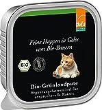 defu - feine Happen in Gelee Bio-Grünlandpute, 16er Pack (16 x 100 g)