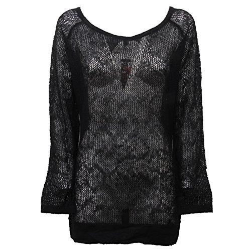 Custo D6164 Maglia Donna Barcelona Trasparente Wool t-Shirt Woman [M]