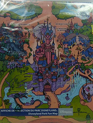 Disney Disneyland Paris 2020 Park Fun Map retro Vintage