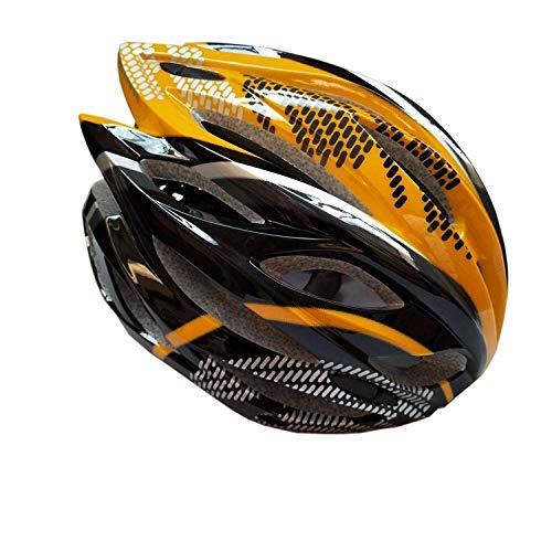 Implicitw Fahrrad Rennradhelm Mountainbike Mit Leicht Integriertem Schutzhelm Dead Fly Equipment, Gelb Schwarz
