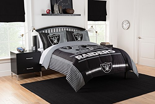 NFL Las Vegas Raiders King Comforter and Sham Set, King
