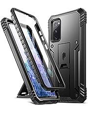 POETIC Revolution Series Ontworpen voor Samsung Galaxy S20 FE 5G Case (2020 release), Full-Body Robuuste Dual-Layer Shockproof Beschermhoes met Kickstand en Ingebouwde Screen Protector, Zwart