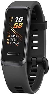 HUAWEI Band 4 - Tracker d'activité Fitness avec Écran Couleur de 0.96 Pouce, Moniteur de Sommeil, GPS, Étanche 5ATM, Plus de 6 Jours d'utilisation, Noir