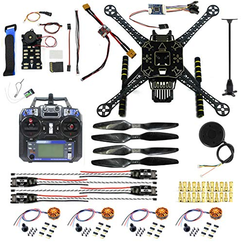 CS PRIORITY S600 4-Axis Rack Quadcopter Frame Kit with Landing Gear Skid PX4 PIX 2.4.8 32 Bit Flight Controller FS-i6 Transmitter