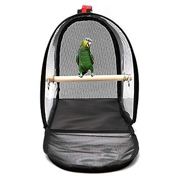 circulor Cage De Transport pour Perroquet, Sac De Transport pour Oiseaux Transparent en PVC Sac À Main Perroquet pour Oiseaux Hamster, Rat, Gerbilles Bagage Voyage
