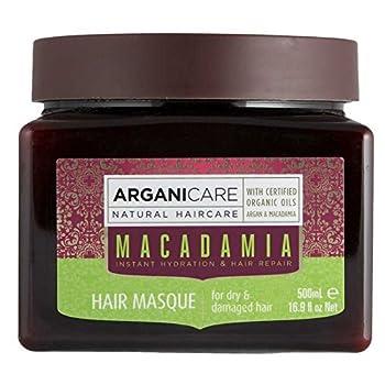 Arganicare Hydrating Hair Masque for Dry and Damaged Hair with Organic Argan Oil and Macadamia Oil  16.9 Fluid Ounce