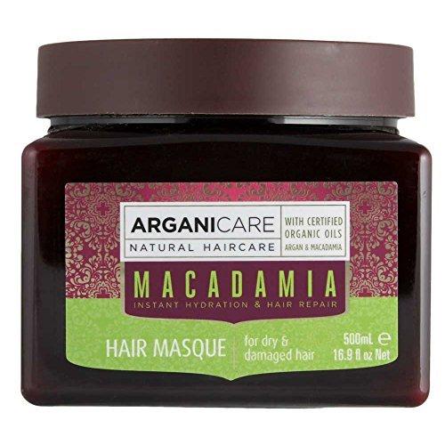 Arganicare Hydrating Hair Masque for Dry and Damaged Hair with Organic Argan Oil and Macadamia Oil (16.9 Fluid Ounce)