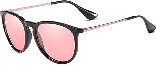 النظارات الشمسية المستقطبة للنساء أزياء ريترو جولة كلاسيكية مصمم نمط النظارات الشمسية العاكسة