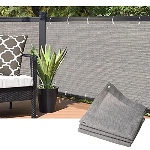 MDCG Red de Sombra 1 Metro de Altura balcón Red de protección de la privacidad Prevenir los Mosquitos A Prueba de Viento Red de Aislamiento Valla Exterior (Color : Gray, Size : 1mx1.5m)