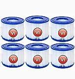 VI - Cartucho de filtro para piscina Bestway VI, filtro de repuesto para piscina Lay-Z-Spa Miami (6 unidades)