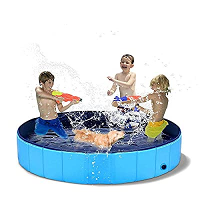 N-A Dog Pools for Large Dogs - Kiddie Pool for Dog Swimming Pool Foldable Dog Pool Pet Bathing Tub Collapsible Dog Pool for Dogs Cats Kids Pet