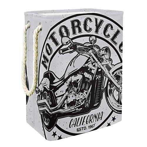 Belles lettres de moto Sac de Rangement Enfants Vêtements de Bébé Jouet Blanchisserie Garage Sac de Panier 49x30x40.5cm