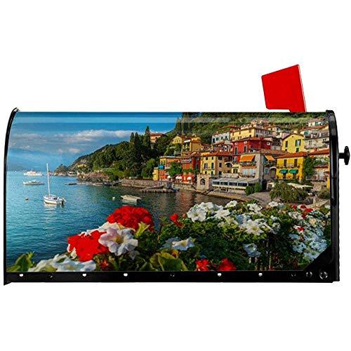 Magnetisch Mailbox,Mailbox-Abdeckung Für Mediterrane Gebäude, Dekorative Garten-Mailbox-Abdeckungen Für Die Begrüßungsdekoration 45.8x52.6CM