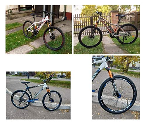 XLYYHZ Horquilla MTB para Bicicleta de montaña 26 27,5 29 Pulgadas de suspensión, Horquilla de Aire para Bicicleta 1-1/8, Horquillas Delanteras de Freno de Disco Ultraligero
